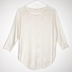 Anthropologie MOTH Knit Mixed Crew Neck Sweater S